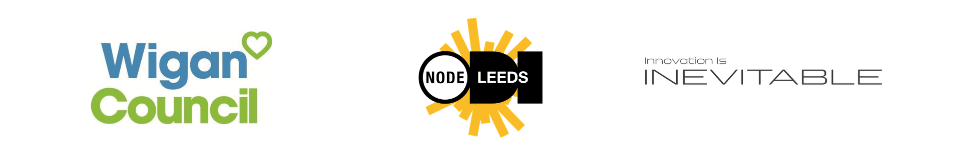 Wigan Council, ODIL Leeds and Inevitable logos